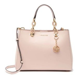 Michael Kors Light Pink Cynthia Medium Leather Bag